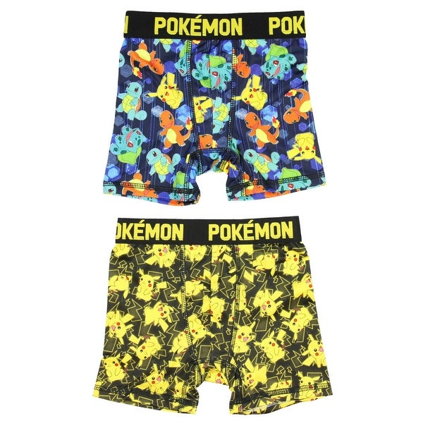 57ab60e558 Shop Pokemon Pikachu Video Game Character 2 Pack Boys Boxer Briefs  Underwear - Free Shipping On Orders Over $45 - Overstock - 18821125