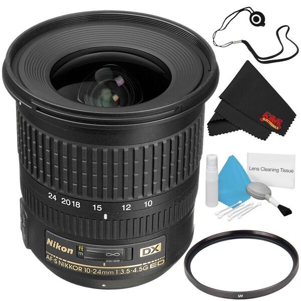 Nikon AF-S DX NIKKOR 10-24mm f/3.5-4.5G ED Zoom Lens with Auto Focus for Nikon DSLR Cameras Bundle with UV Filter
