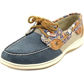 Sperry Top Sider Bluefish Women Moc Toe Leather Blue Boat Shoe