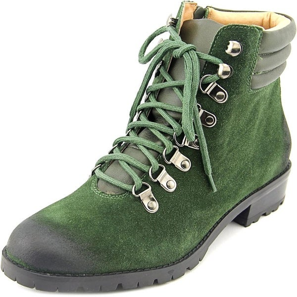 Corso Como Whisper Women Round Toe Suede Green Ankle Boot