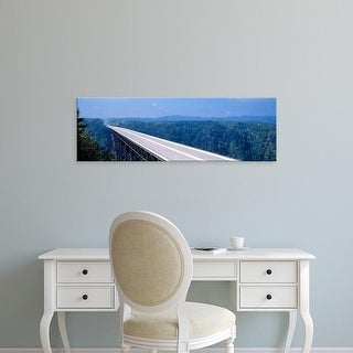 Easy Art Prints Panoramic Images's 'New River Bridge, West Virginia, USA' Premium Canvas Art