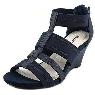 Alfani Mavenn Open Toe Synthetic Wedge Sandal