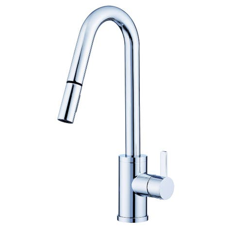 Amalfi 1H Pull-Down Kitchen Faucet w/SnapBack Retraction 1.75gpm Chrome