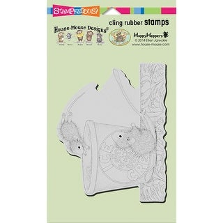 "Stampendous House Mouse Cling Stamp 7.75""X4.5""-Dessert Drive"