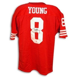 Autographed Steve Young San Francisco 49ers Throwback Red Jersey