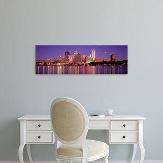 Easy Art Prints Panoramic Images's 'Allegheny River, Pittsburgh, Pennsylvania, USA' Premium Canvas Art