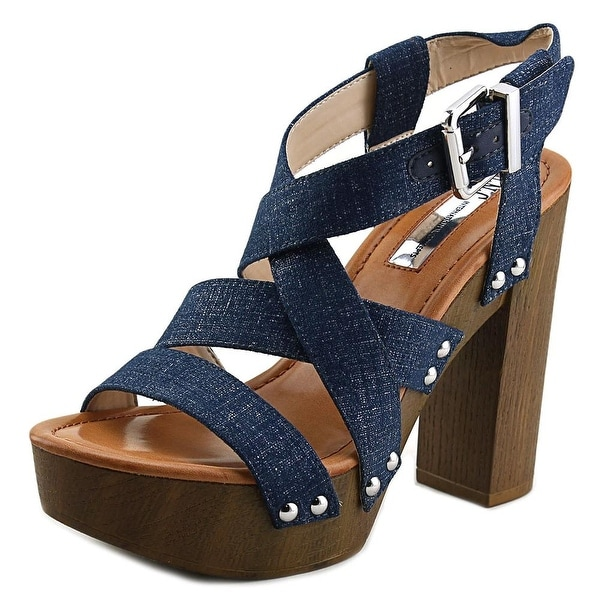 INC International Concepts Camira Women Open Toe Synthetic Blue Platform Sandal