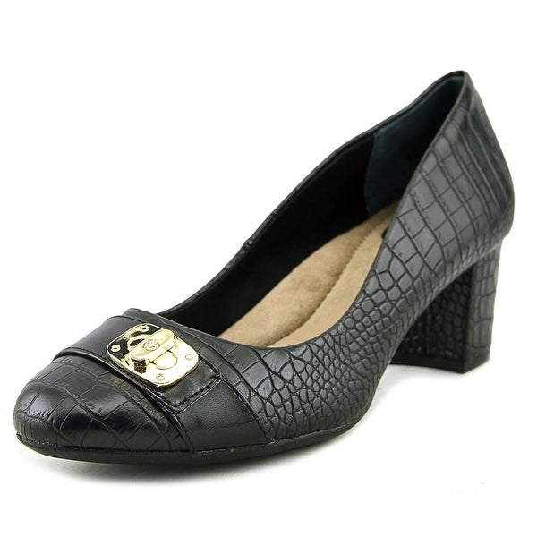 Giani Bernini Lorenn Women Round Toe Synthetic Black Heels
