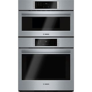 Bosch HBL8752UC 30 Inch Wide 4.6 Cu. Ft. Electric Built-In Combination Oven with 1.6 Cu. Ft. Speed Oven and True European