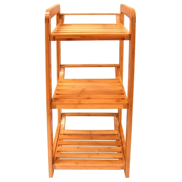 """Organize It All 29953W Lohas 27-3/4"""" H x 12"""" W Bamboo Free Standing Linen Tower"""