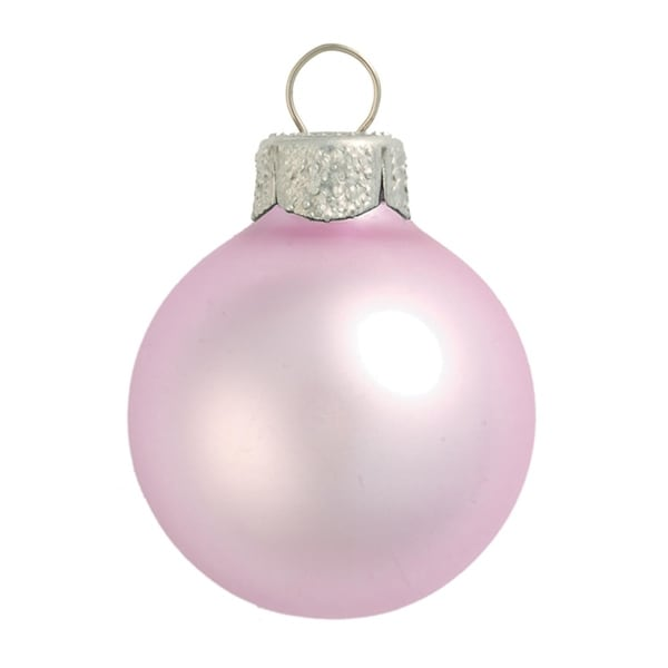 """40ct Matte Baby Pink Glass Ball Christmas Ornaments 1.5"""" (40mm)"""