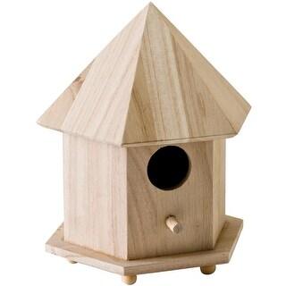 """Wood Gazebo Birdhouse-6.75""""X9""""X5.75"""""""