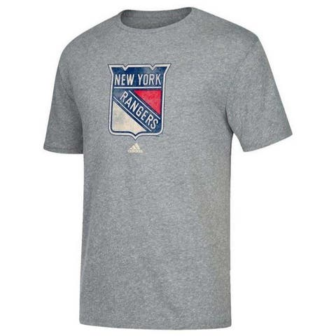 Adidas Men's New York Rangers NHL Hockey League Tee Shirt Heritage NY NYR9XM5 - Gray