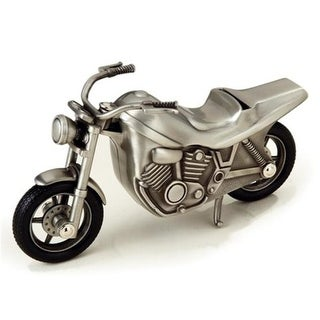 Elegance Pewter Plated Motorcycle Bank, 3.75 x 2.75 x 7.5 in.