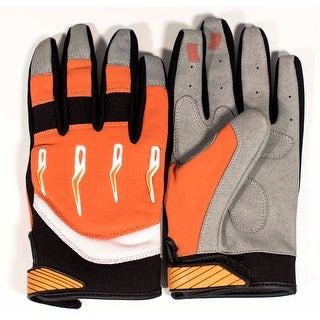 Race-Driven ATV MX Off Road Silicone Fingertip Riding Gloves - Orange