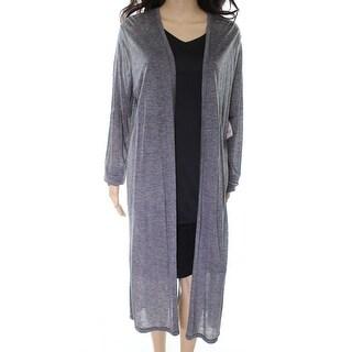 Elie Tahari NEW Gray Open Front Women's Size XL Cardigan Sweater
