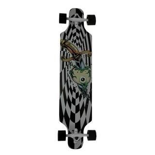 Awaken Checkerboard 40 inch Drop Through 8 Ply Canadian Maple Longboard - Black