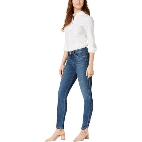 Joe's Womens Gathered Hem Skinny Fit Jeans