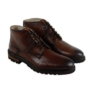 GBX Breccan Mens Brown Leather Casual Dress Lace Up Boots Shoes (More options available)