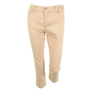 INC International Concepts Women's Cropped Colored Skinny Jeans (8, Pale Blush) - 8