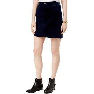 Tommy Hilfiger Womens Mini Skirt Corduroy Ribbed