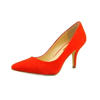 INC International Concepts Zitah Women Pointed Toe Suede Orange Heels