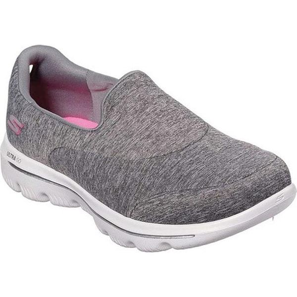 c61c3d6fb8d8a Skechers Women  x27 s GOwalk Evolution Ultra Amazed Slip-On Walking Shoe  Gray