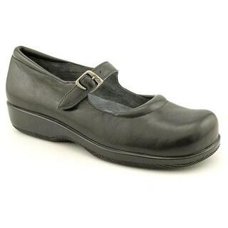 Softwalk Jupiter Women W Round Toe Leather Black Mary Janes