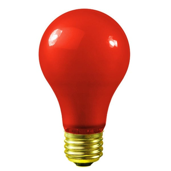 Pack of 25 Opaque Red E26 Base Replacement A19 Light Bulbs - 25 Watts