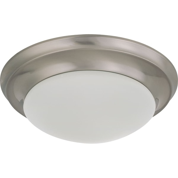 "Nuvo Lighting 60/3271 Single Light 11-1/2"" Wide Flush Mount Bowl Ceiling Fixture"