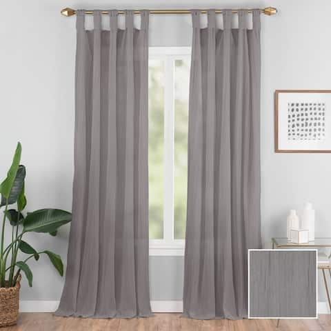 Vue Elements Priya Tab Top Window Curtain - 50x95