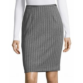 Tommy Hilfiger NEW Dark Gray Womens Size 4 Striped Straight Skirt