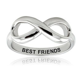 Sterling Silver Best Friends Infinity Ring