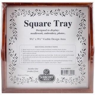 "Mahogany Small Square Tray 10""X10""-Design Area 9.5""X9.5"""