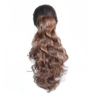 Wig Horsetail Claw Clip Natural Color   2/30#