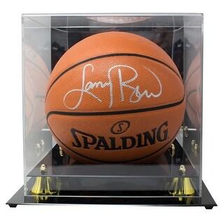 Larry Bird Boston Celtics Signed Spalding Replica Basketball BAS W Display Case