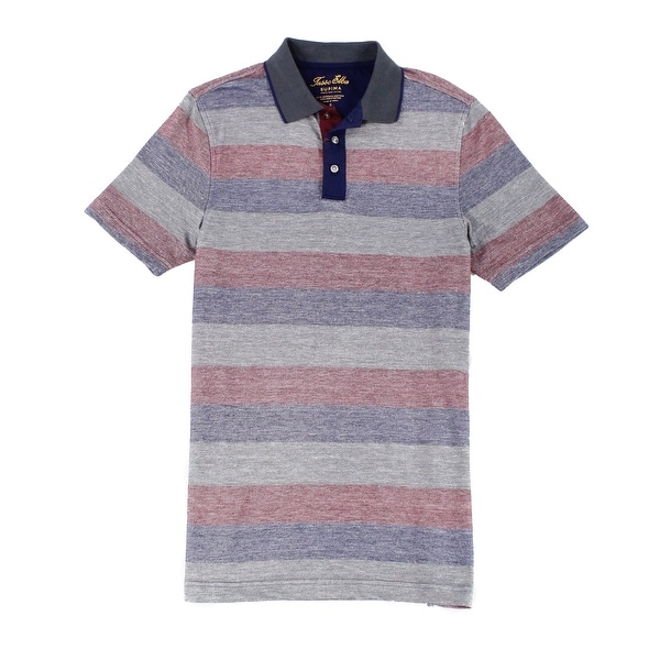 cf12a80b777 Shop INC Blue Red Mens Small S Supima Cotton Striped Polo Rugby Shirt -  Free Shipping On Orders Over $45 - Overstock.com - 22358418