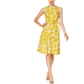 Anne Klein Womens Sundress Pleated Floral Print