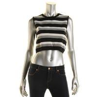 Rachel Rachel Roy Womens Crop Top Striped Sleeveless