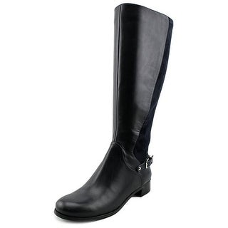 Nine West Symphony Round Toe Leather Knee High Boot