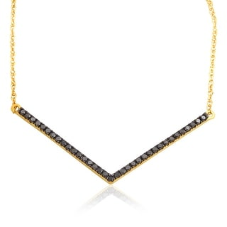 Superb 0.40 Carat Round Brilliant Cut Black Diamond Necklace