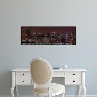 Easy Art Prints Panoramic Image 'Jane's Carousel, Brooklyn Bridge, Manhattan, New York City, New York' Canvas Art