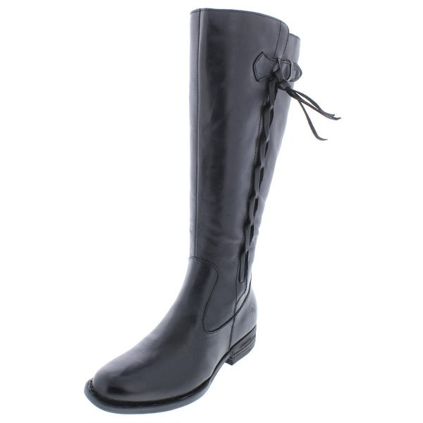 Born Womens Cook Riding Boots Wide Calf