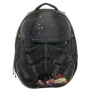 Star Wars Stormtrooper Black Galaxy Helmet 3D Molded Backpack
