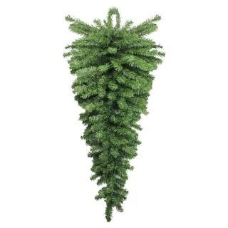 """42"""" Two-Tone Canadian Pine Artificial Christmas Teardrop Door Swag - Unlit - green"""