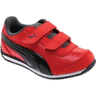 PUMA Boys' Speed Lightup Power V PS Sneaker Ribbon Red/PUMA Black/Iron Gate