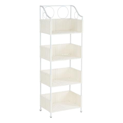 Household Essentials Paper Rope 4-Tier Shelf White