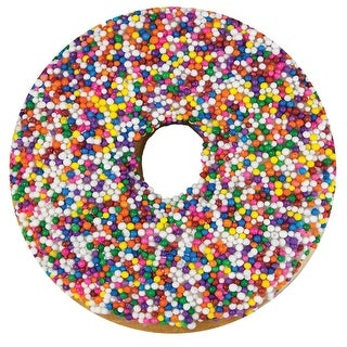 Calhoun Sublimated Donut Blanket - Realistic Plush Food Throw - 60-Inch Doughnut - 60 in x 60 in