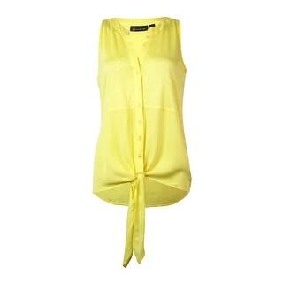 INC International Concepts Women's Tie-Front Sleeveless Top