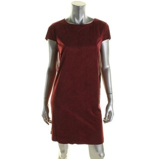 Kensie Womens Casual Dress Fringe Faux Suede